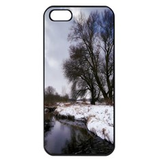 Winter Bach Wintry Snow Water Apple Iphone 5 Seamless Case (black) by Celenk