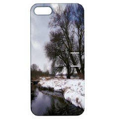 Winter Bach Wintry Snow Water Apple Iphone 5 Hardshell Case With Stand by Celenk