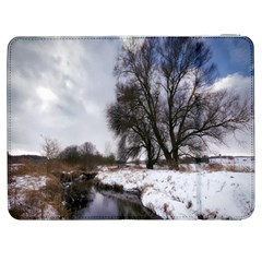 Winter Bach Wintry Snow Water Samsung Galaxy Tab 7  P1000 Flip Case by Celenk