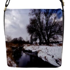 Winter Bach Wintry Snow Water Flap Messenger Bag (s) by Celenk