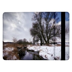 Winter Bach Wintry Snow Water Samsung Galaxy Tab Pro 12 2  Flip Case by Celenk