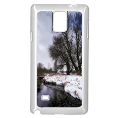 Winter Bach Wintry Snow Water Samsung Galaxy Note 4 Case (white)