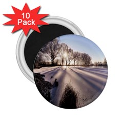 Winter Lake Cold Wintry Frozen 2 25  Magnets (10 Pack)  by Celenk