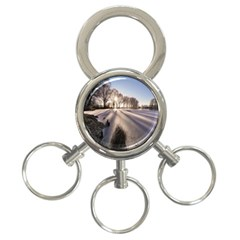 Winter Lake Cold Wintry Frozen 3 Ring Key Chains by Celenk