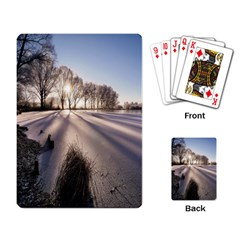 Winter Lake Cold Wintry Frozen Playing Card by Celenk