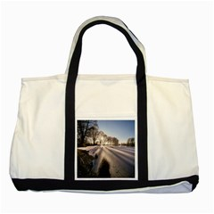 Winter Lake Cold Wintry Frozen Two Tone Tote Bag by Celenk