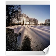 Winter Lake Cold Wintry Frozen Canvas 16  X 20   by Celenk