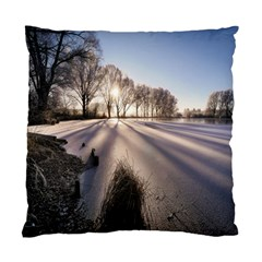 Winter Lake Cold Wintry Frozen Standard Cushion Case (two Sides) by Celenk
