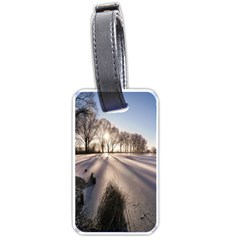 Winter Lake Cold Wintry Frozen Luggage Tags (two Sides) by Celenk