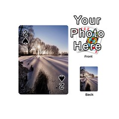 Winter Lake Cold Wintry Frozen Playing Cards 54 (mini)  by Celenk