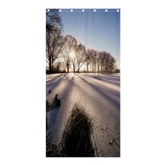Winter Lake Cold Wintry Frozen Shower Curtain 36  X 72  (stall)  by Celenk