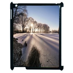 Winter Lake Cold Wintry Frozen Apple Ipad 2 Case (black) by Celenk