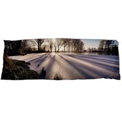 Winter Lake Cold Wintry Frozen Body Pillow Case (dakimakura) by Celenk