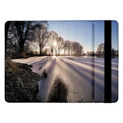 Winter Lake Cold Wintry Frozen Samsung Galaxy Tab Pro 12 2  Flip Case by Celenk