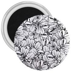 White Leaves 3  Magnets by SimplyColor