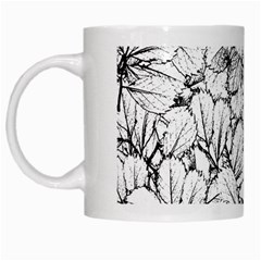 White Leaves White Mugs by SimplyColor