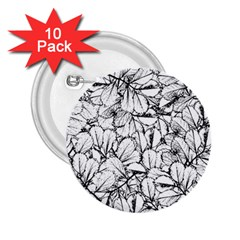 White Leaves 2 25  Buttons (10 Pack)  by SimplyColor