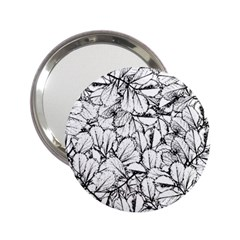 White Leaves 2 25  Handbag Mirrors by SimplyColor