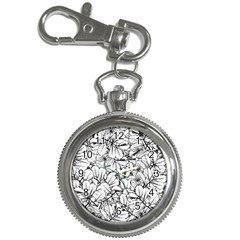 White Leaves Key Chain Watches by SimplyColor