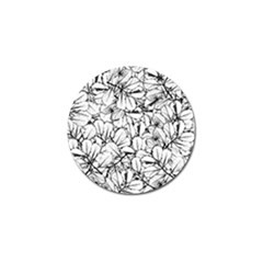 White Leaves Golf Ball Marker (10 Pack) by SimplyColor