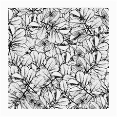 White Leaves Medium Glasses Cloth (2 Side) by SimplyColor
