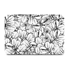 White Leaves Plate Mats by SimplyColor