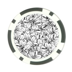 White Leaves Poker Chip Card Guard by SimplyColor
