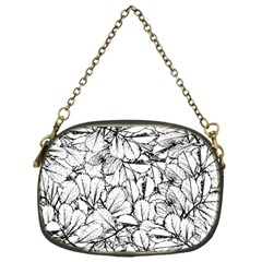White Leaves Chain Purses (one Side)  by SimplyColor