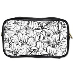 White Leaves Toiletries Bags by SimplyColor