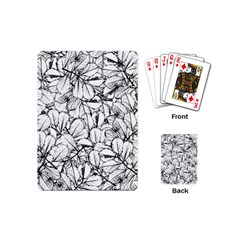 White Leaves Playing Cards (mini)  by SimplyColor