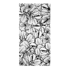 White Leaves Shower Curtain 36  X 72  (stall)  by SimplyColor