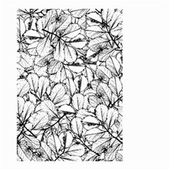 White Leaves Small Garden Flag (two Sides) by SimplyColor