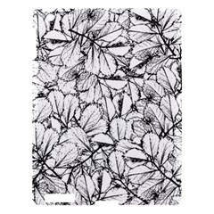 White Leaves Apple Ipad 3/4 Hardshell Case by SimplyColor