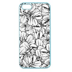 White Leaves Apple Seamless Iphone 5 Case (color) by SimplyColor