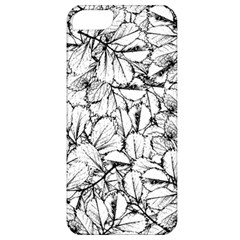 White Leaves Apple Iphone 5 Classic Hardshell Case by SimplyColor