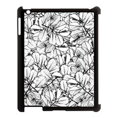 White Leaves Apple Ipad 3/4 Case (black) by SimplyColor