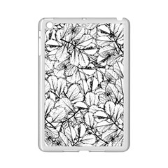 White Leaves Ipad Mini 2 Enamel Coated Cases by SimplyColor