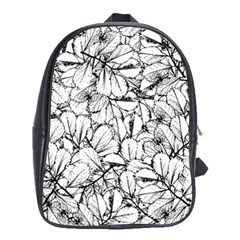 White Leaves School Bag (xl) by SimplyColor