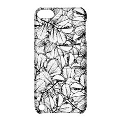 White Leaves Apple Ipod Touch 5 Hardshell Case With Stand by SimplyColor