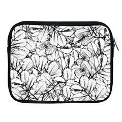 White Leaves Apple Ipad 2/3/4 Zipper Cases by SimplyColor