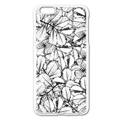 White Leaves Apple Iphone 6 Plus/6s Plus Enamel White Case by SimplyColor