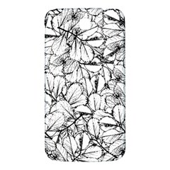 White Leaves Samsung Galaxy Mega I9200 Hardshell Back Case by SimplyColor