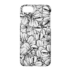 White Leaves Apple Iphone 8 Hardshell Case by SimplyColor