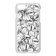 White Leaves Apple Iphone 8 Seamless Case (white) by SimplyColor