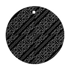Tribal Stripes Pattern Round Ornament (two Sides) by dflcprints