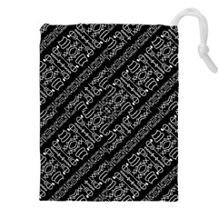 Tribal Stripes Pattern Drawstring Pouches (xxl)