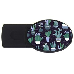 Cactus Pattern Usb Flash Drive Oval (2 Gb)