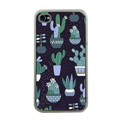 Cactus Pattern Apple Iphone 4 Case (clear)