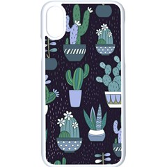 Cactus Pattern Apple Iphone X Seamless Case (white) by allthingseveryone