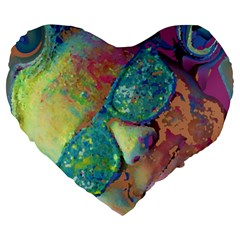 Holi Large 19  Premium Heart Shape Cushions
